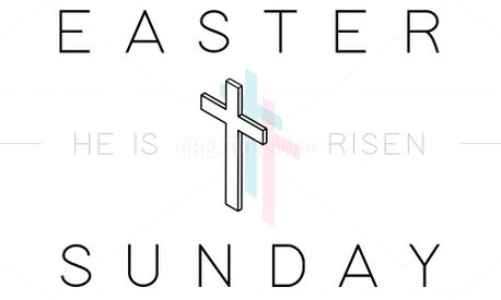 Easter Sunday Cross (75719)