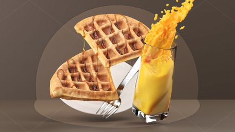 Waffles with Syrup (75829)