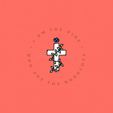 I Am The Vine Cross (76029)