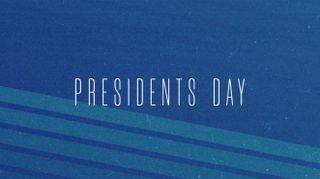 Retro Stripes Presidents Day
