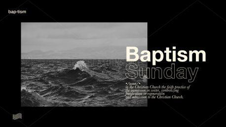 Modern Baptism Slides (77078)