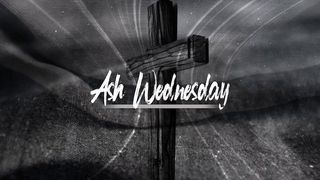 Cross And Dust Ash Wednesday