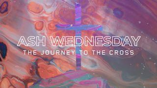 Abstract Cross Ash Wednesday