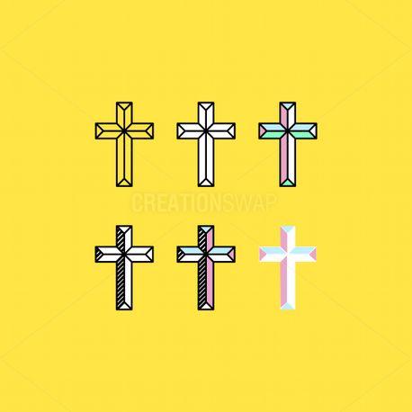 Line Art Cross Pack (77280)
