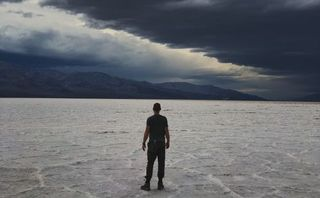 Man at Salt Flats