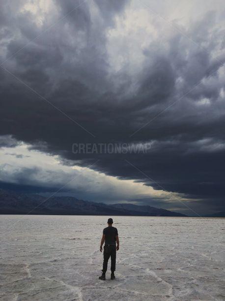Man at Salt Flats (77400)