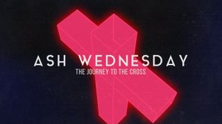 Neon Cross Ash Wednesday