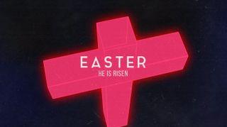 Neon Cross Easter
