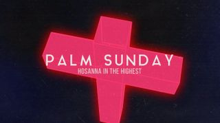 Neon Cross Palm Sunday