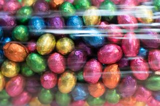 Chocolate Candy Eggs in Foil