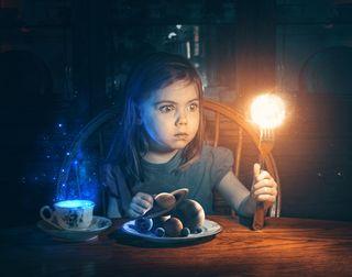 Little girl's imagination