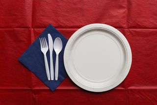 Picnic place setting
