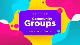 Summer Groups 2019