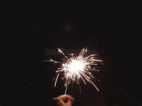 Hand Holding a Sparkler (79066)
