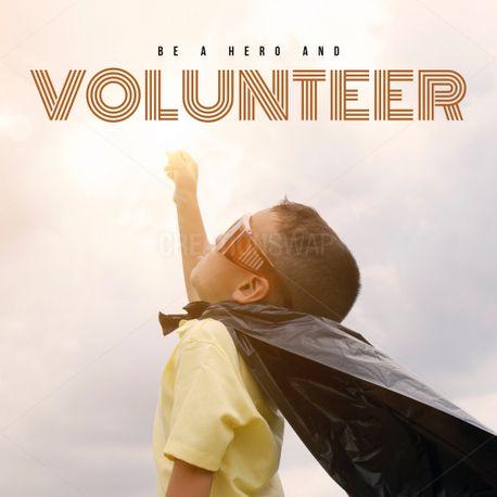 Be a hero and volunteer (79836)