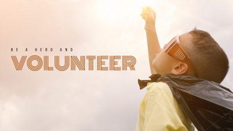 Be a hero and volunteer (79837)