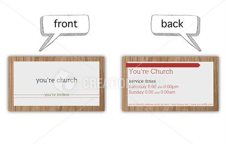 invite card(wood) (8753)