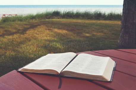 Open Bible at the Beach (80151)