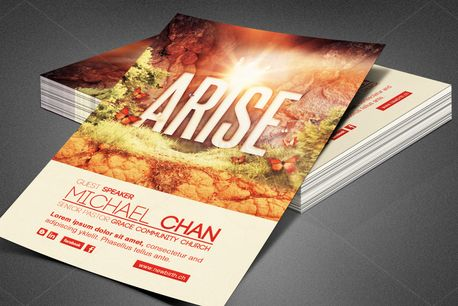 Arise Church Flyer Template (80174)