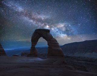 Arch under the stars