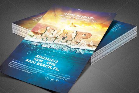Baptism Sunday Church Flyer (80223)