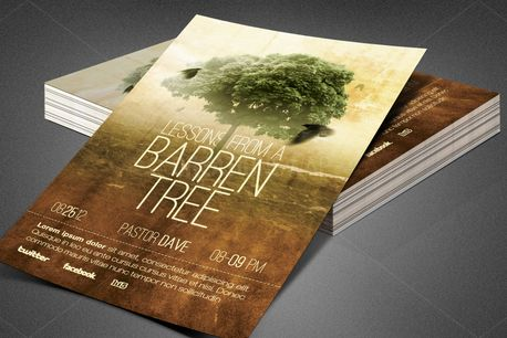 Barren Tree Church Flyer (80224)