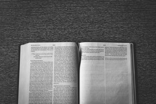 Open Bible on Table