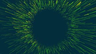 Green Spiral Abstract Graphics