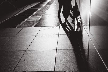 People walking on a city sidew (80363)