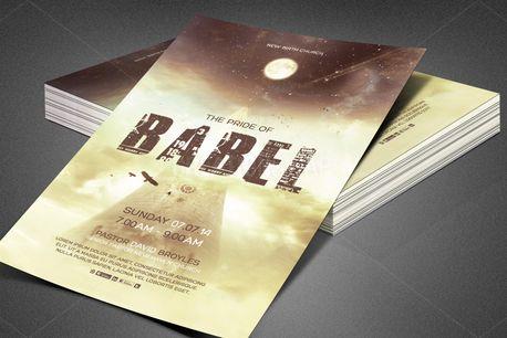 Babel Church Flyer Template (80395)