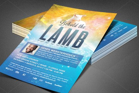 Behold the Lamb Church Flyer (80398)