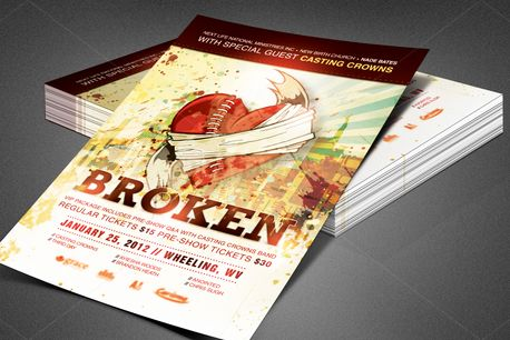 Broken Church Flyer Template (80402)