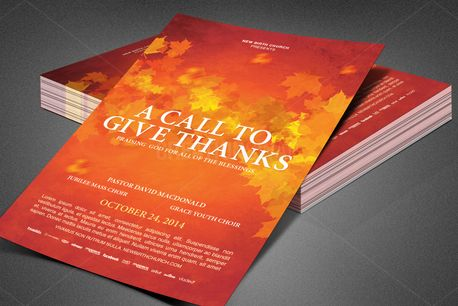 Call to Give Thanks Flyer (80403)