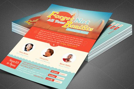 Church Benefit Flyer Template (80409)