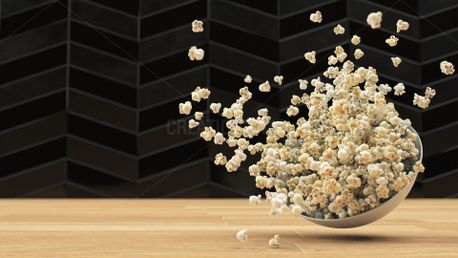 Popcorn Exploding from Bowl (80475)