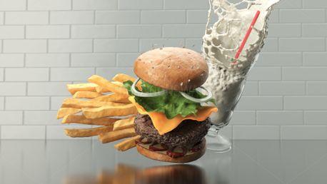 Burger Fries & Shake (80477)