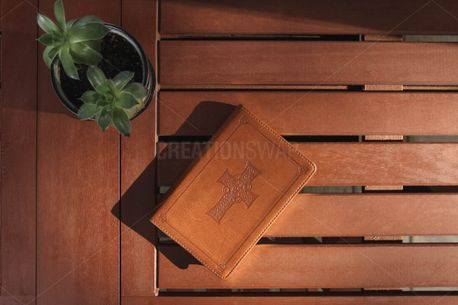 Bible on Patio Table (80546)