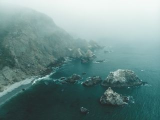 Cliffs on the Pacific coast