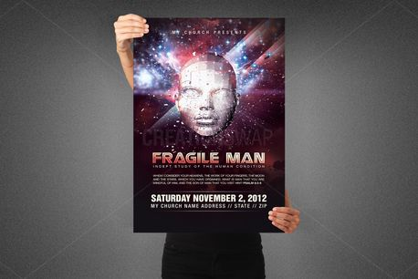 Fragile Man Poster Template (80600)