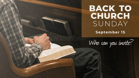 Back to Church Sunday Slide (81363)