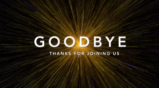 "Space ""Goodbye"" Motion Title"