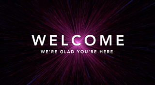 "Space ""Welcome"" Motion Title"
