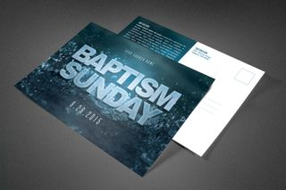 Baptism Sunday Church Postcard