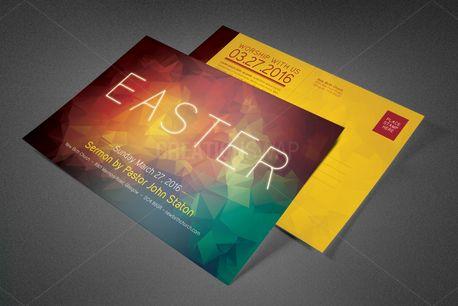 Easter Sunday Church Postcard (81785)