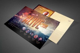 Alive Church Concert Postcard