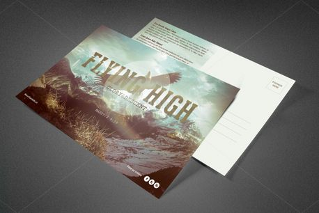 Flying High Church Postcard (81881)