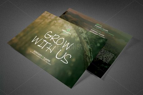 Grow With Us Church Postcard (81898)