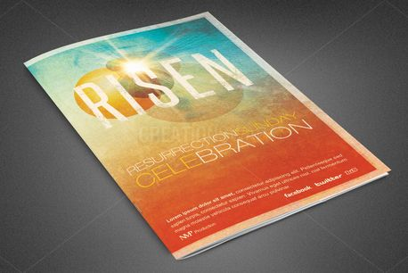 Risen Church Bulletin Template (81925)