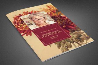 Burgundy Funeral Program