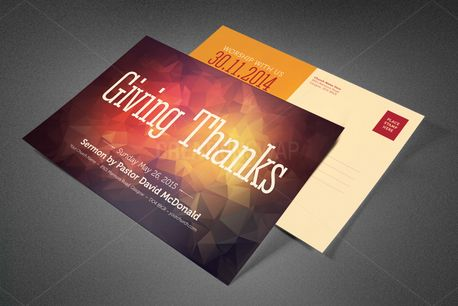 Giving Thanks Church Postcard (82320)